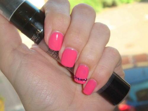 Pink Short Nail Designs
