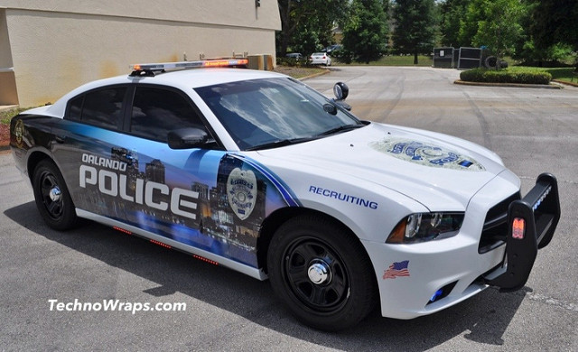 Police Car Graphic Wraps