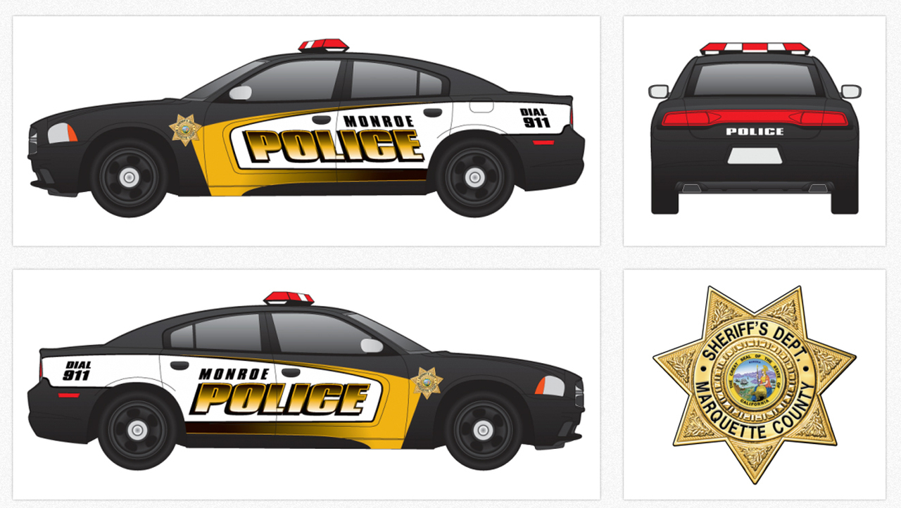 Police Vehicle Graphic Decal Kit