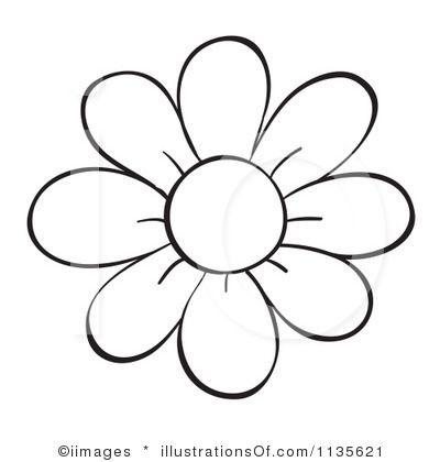 Printable Flower Outline Clip Art