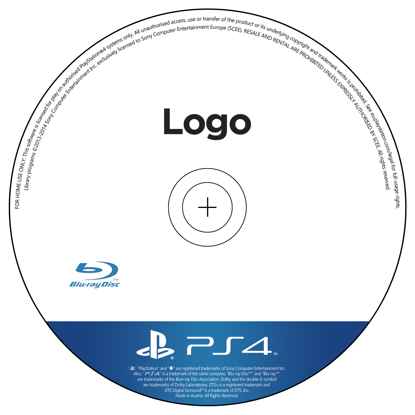 PS4 Disc Template
