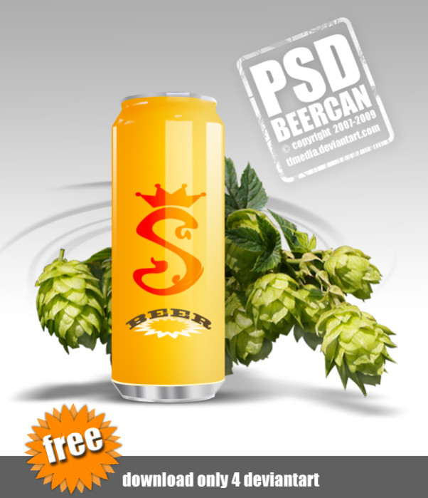 PSD Beer Cans