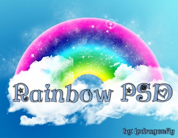 Rainbow PSD Files Free