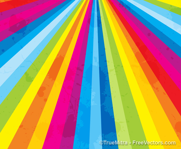 Rainbow Stripe Retro Background Free
