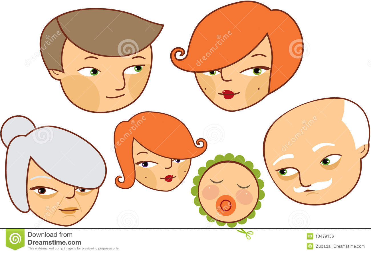 Royalty Free Cartoon Family Pics