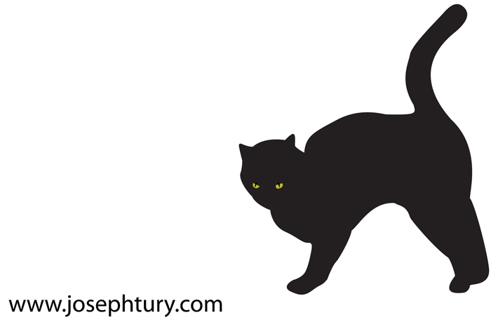 Scary Black Cat Silhouette