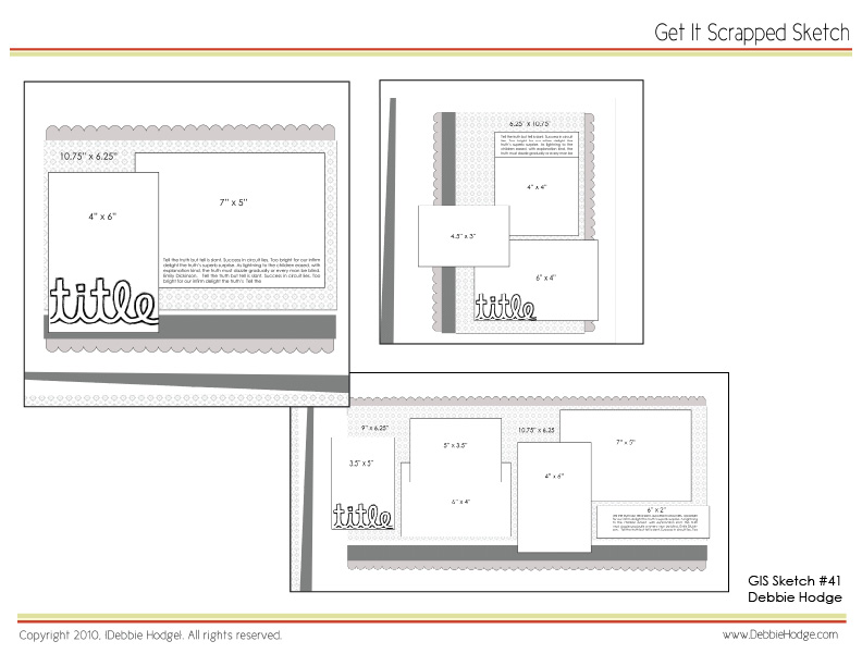Scrapbook Page Layout Templates
