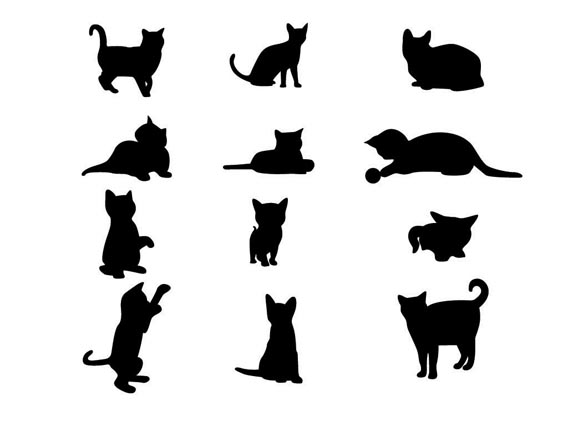 Sexy Cat Silhouette Vector