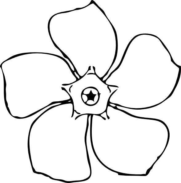 Simple Flower Drawings Clip Art