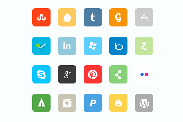 6 Number 4 Icons Rounded Corners Images