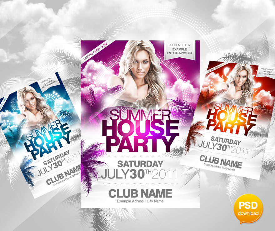 Summer House Party Flyer