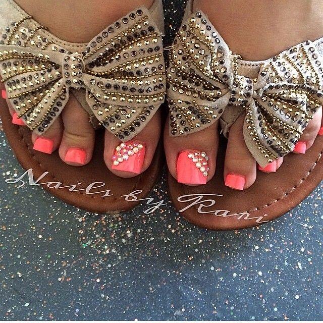 Toe Nail Designs Pink and 2015