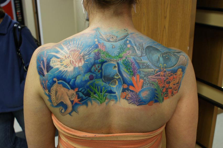 Under the Sea Back Tattoo