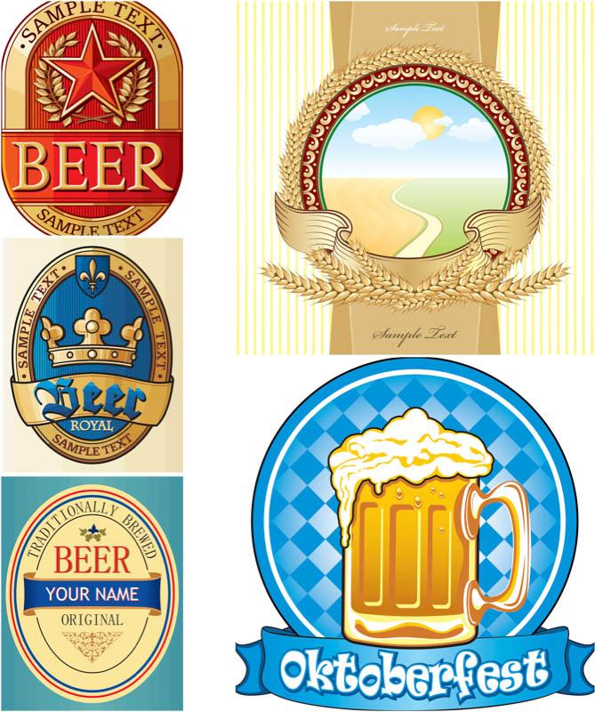 Vector Beer Label Template