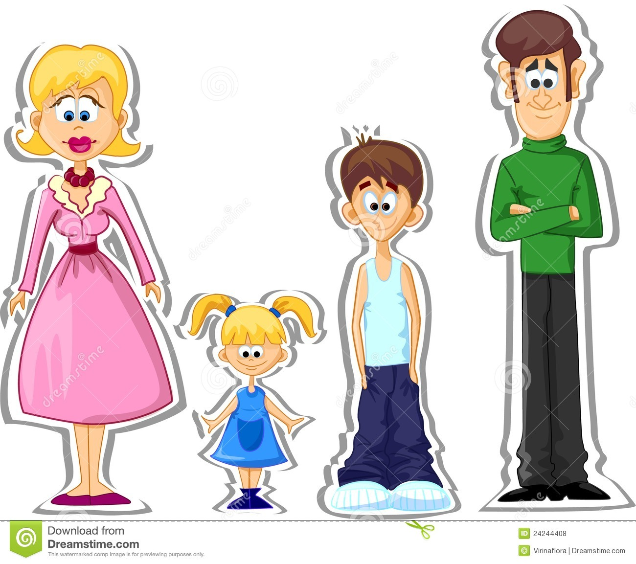 Vector Cartoon Family