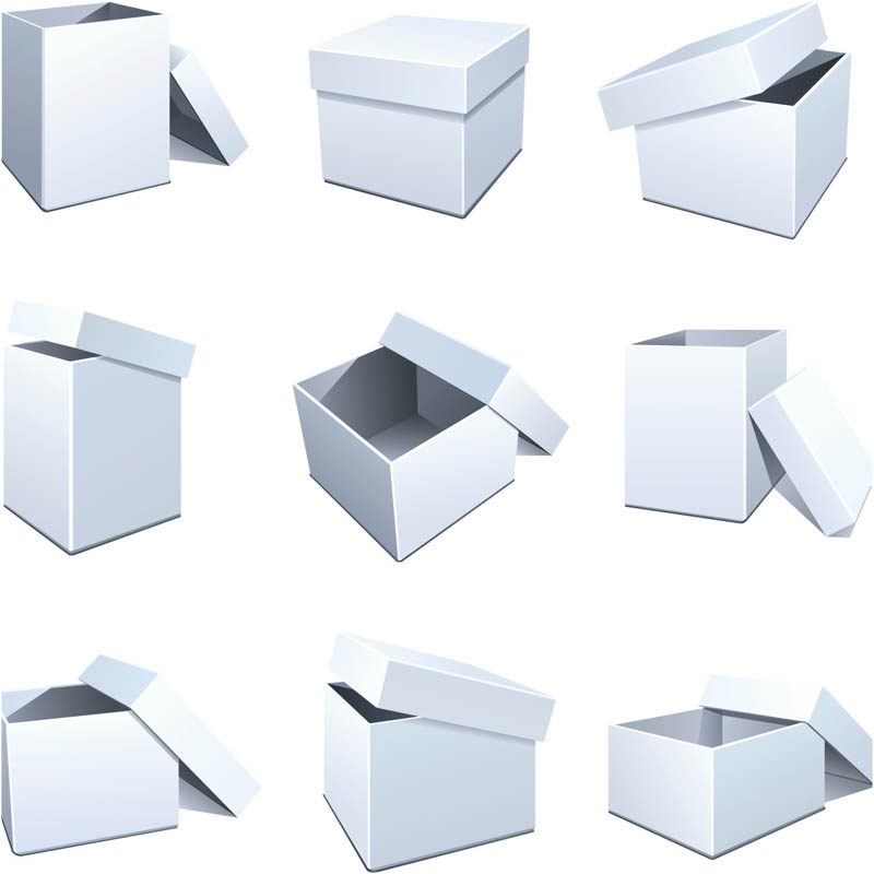 11 For Box Templates Vector Images