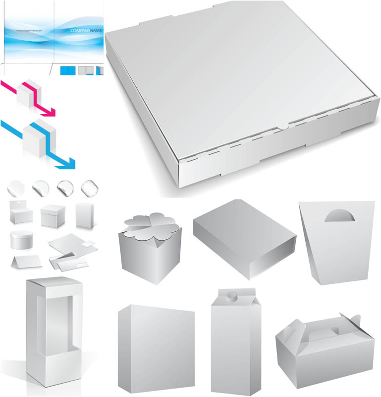 Vector Packaging Box Templates