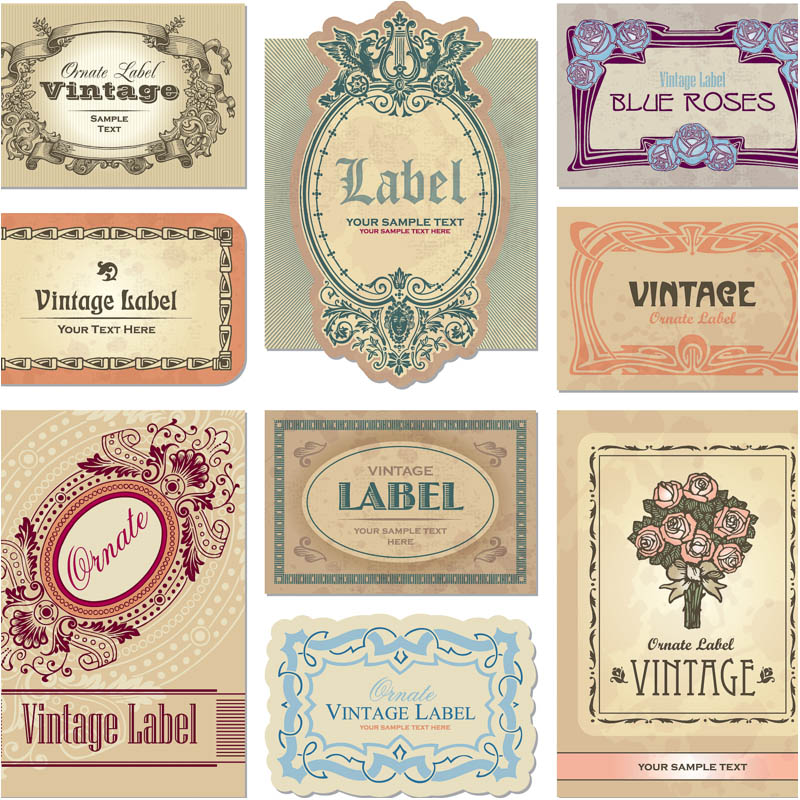 20 Free Label Vector Graphics Images - Free Vintage Label ...