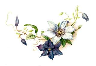 Vintage Blue Flower Clip Art Free