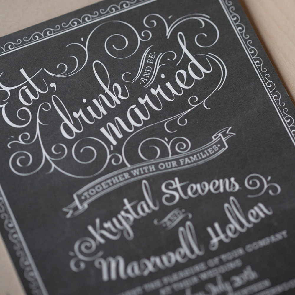 Chalkboard Wedding Invitations 028 - Chalkboard Wedding Invitations