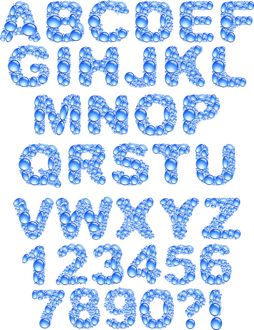 Water Letter Font