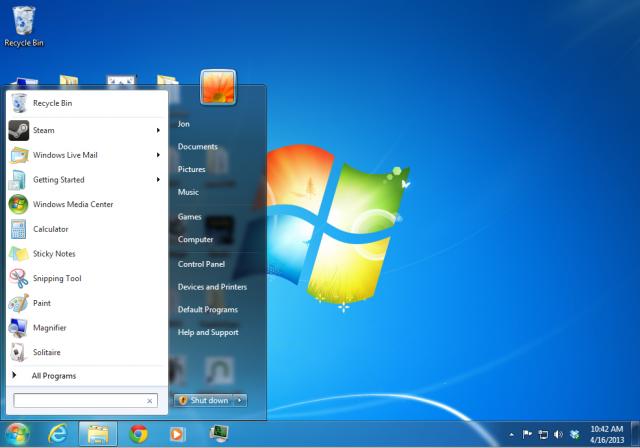 Windows 8.1 Desktop Start Button