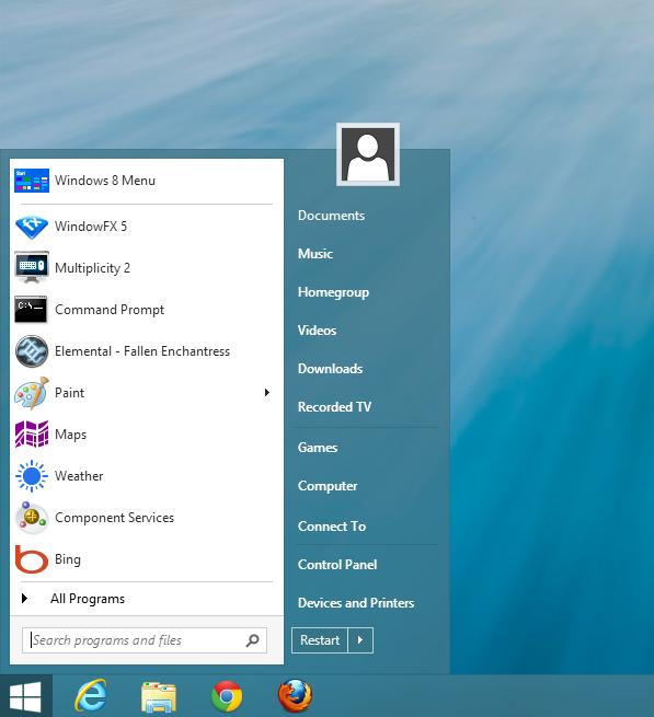 Windows 8.1 Start Menu Classic