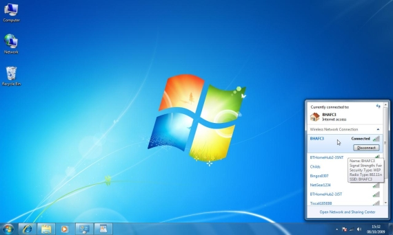 Wireless Network Icon Windows 7