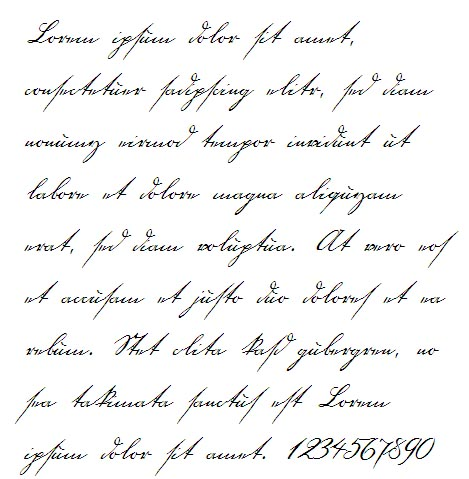 18th Century Handwriting Font