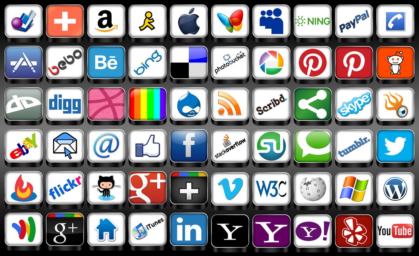 15 3D Social Icons Web Images