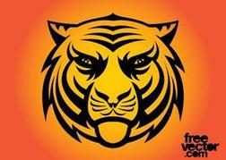 Angry Tiger Clip Art