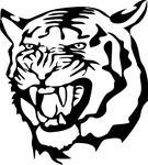 Angry Tiger Face Clip Art