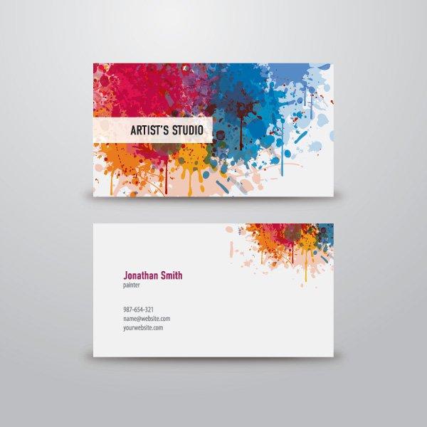 Artist Business Cards Templates