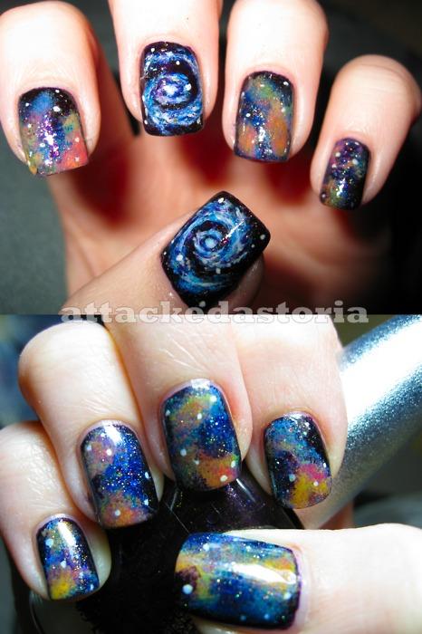 13 Galaxy Nail Designs Tumblr Images