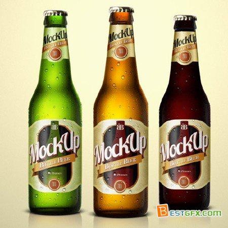 Beer Bottle PSD Template