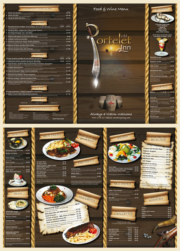 Best Restaurant Menu Design