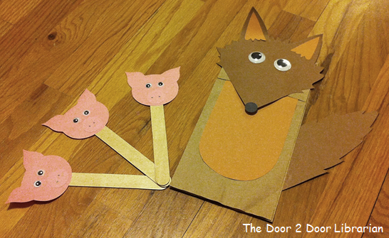 Big Bad Wolf Paper Bag Puppet