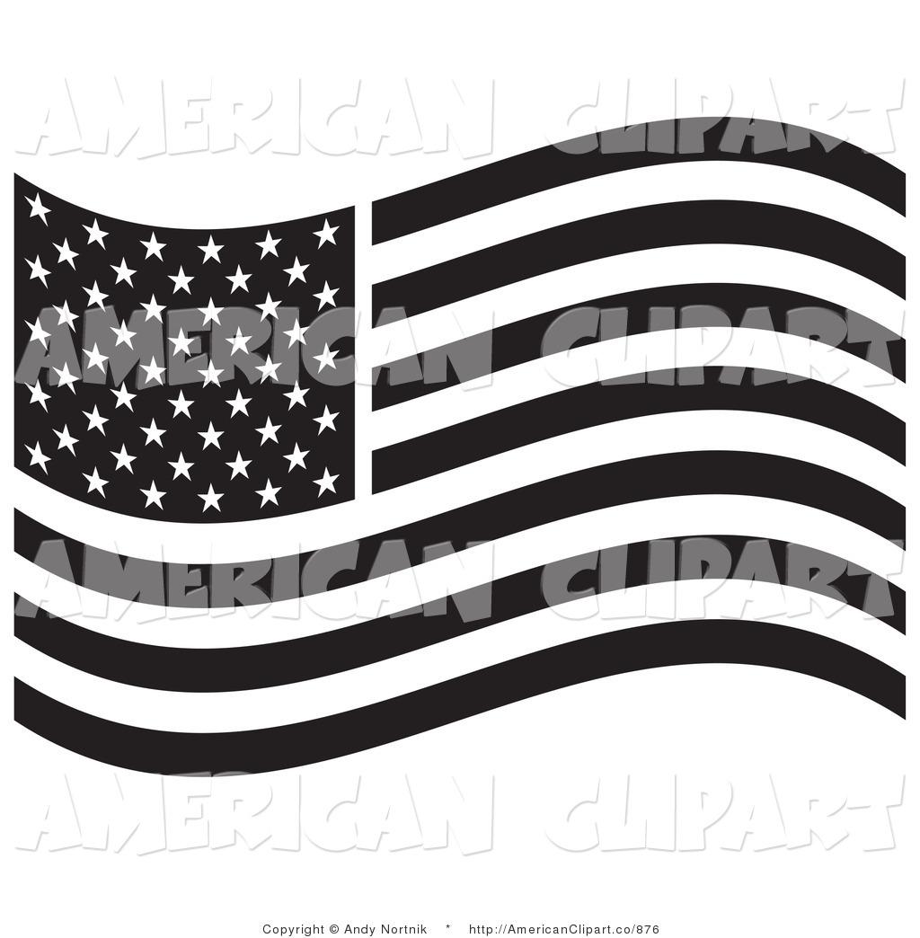 Clip art black and white american flag