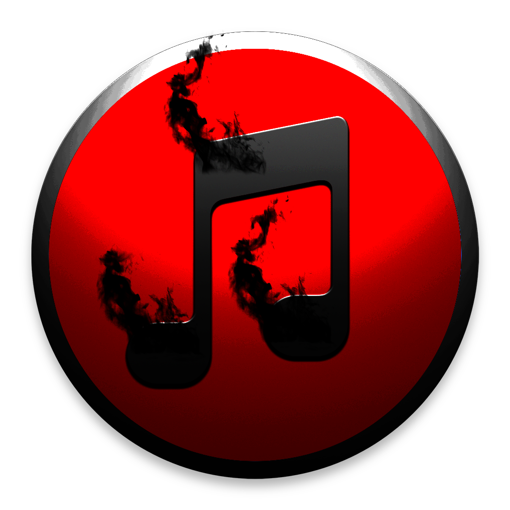 Black and White iTunes Icon