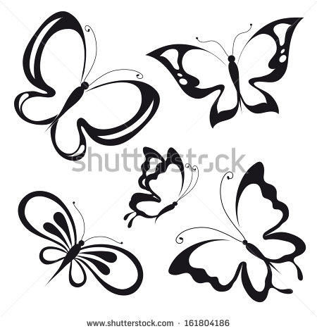 Black Butterfly Design Vector