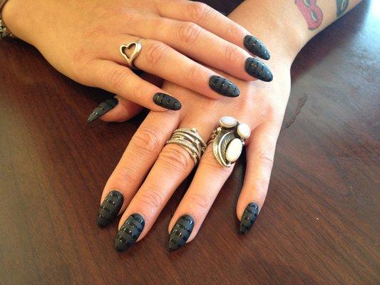 Black Stiletto Nail Designs