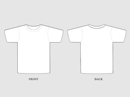 Blank T Shirt Design Template