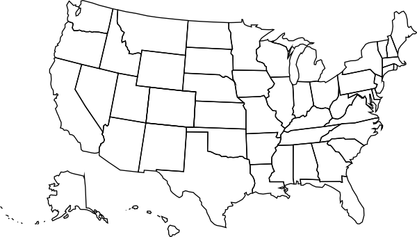 10 United States Map Vector Images