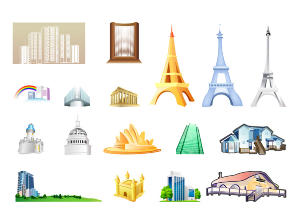 Buildings Vector Icon Free