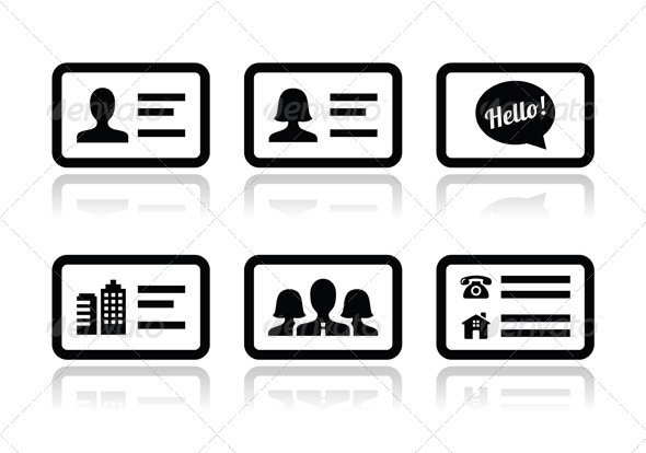 Business Card Icons Phone Email, Free Contact Icons