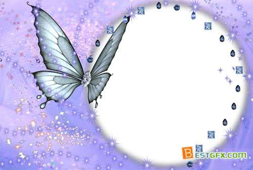 Butterfly Picture Frame Templates Free