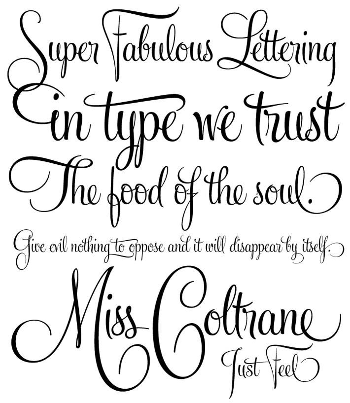 9 Calligraphy Style Fonts Images