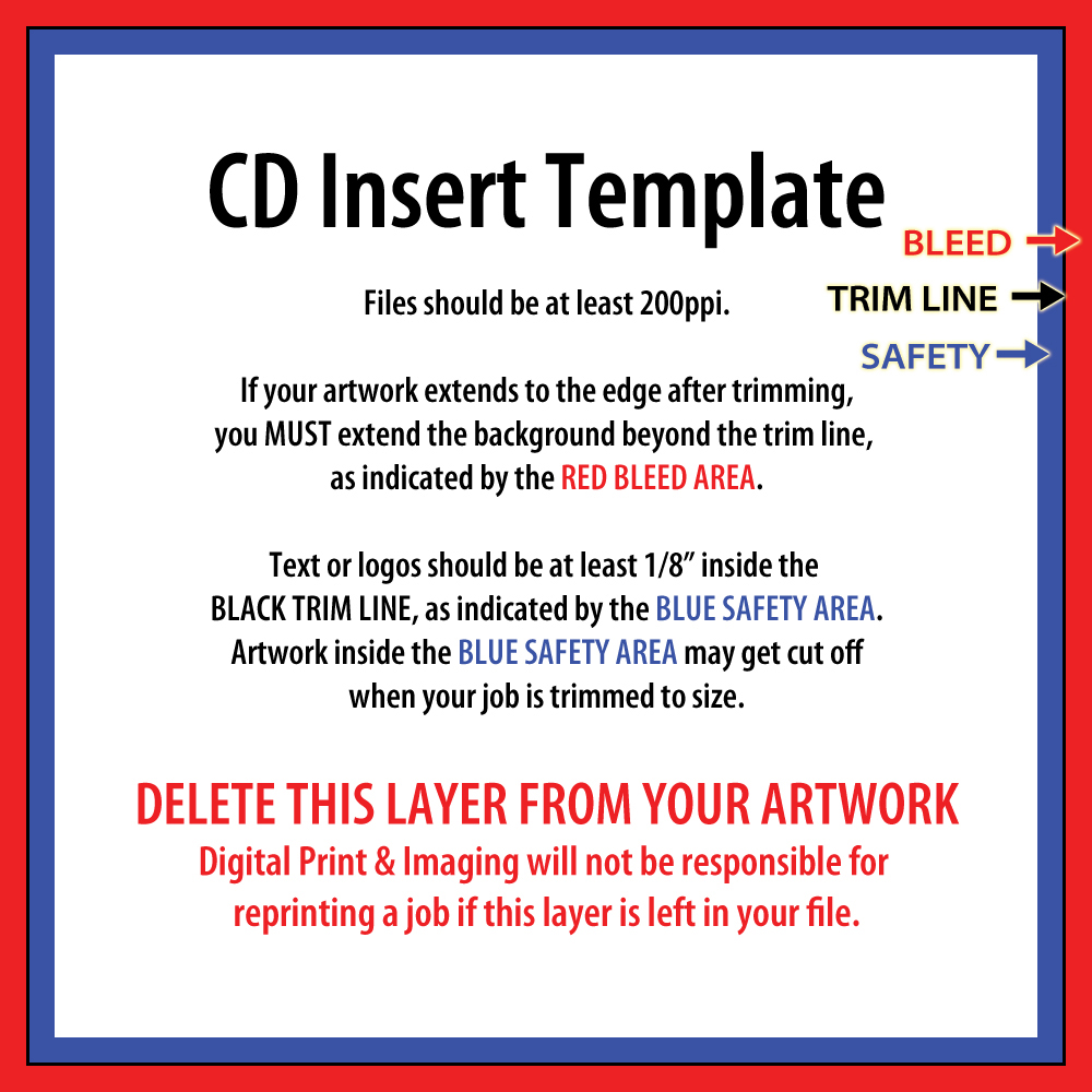 CD Insert Template Photoshop