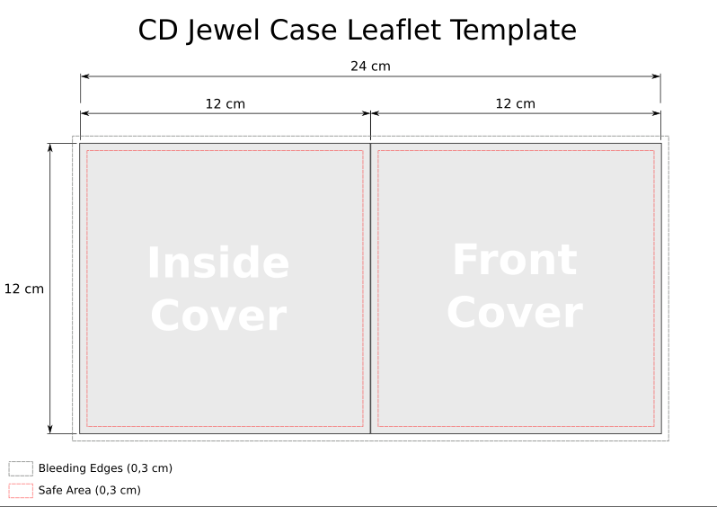 CD Jewel Case Template Word