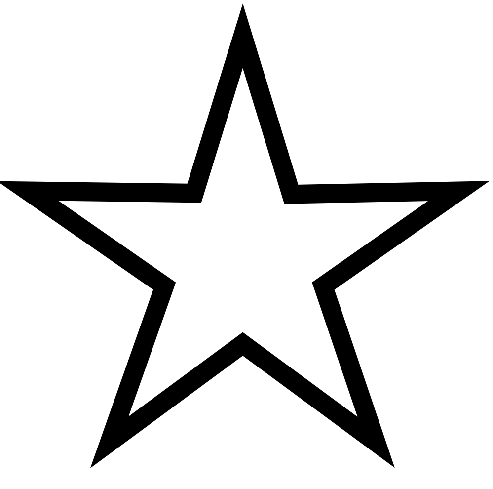 Christmas Star Clip Art Black and White
